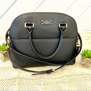 {Kate Spade} Carli Dome Satchel Pebble Leather Bag
